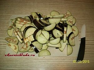 подготовленные баклажаны для маринования