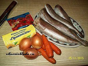 ингредиенты для хека с овощами