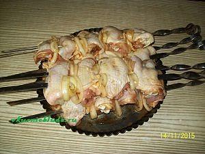 куриный шашлык в томате