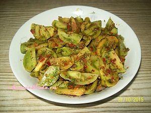 острый салат из зеленых помидор