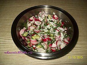 редиска и огурцы для салата