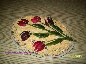 салат с редиской и огурцами