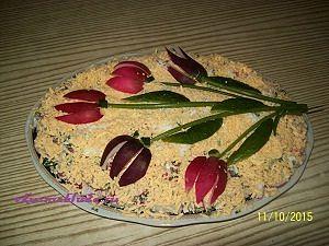 салат с редиской тюльпан