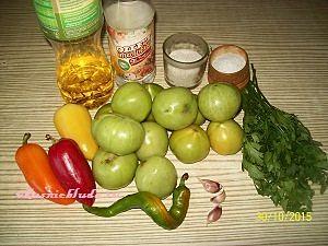 зелёные помидоры для салата