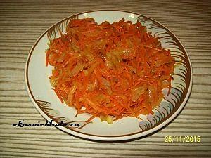 жареные овощи для хека