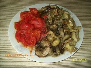 баклажаны и помидоры для икры