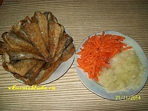 бычки и овощи