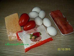 ингредиенты для салата с сёмгой