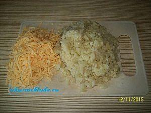 капуста и сыр для котлет