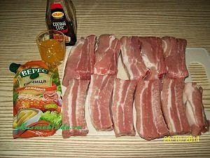 свиные ребра и маринад