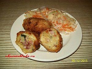 фаршированный картофель с капустой