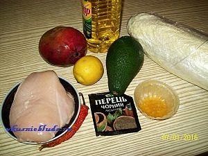 ингредиенты для салата без майонеза