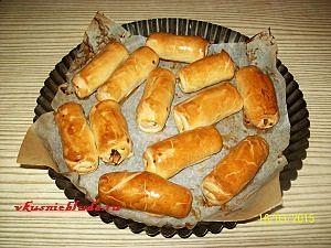 слоёные пирожки с капустой