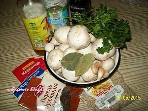 ингредиенты для шампиньонов по-корейски
