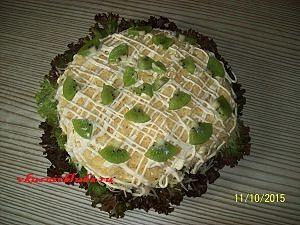 рецепт салата с курицей и фруктами