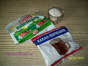 сметана какао сахар