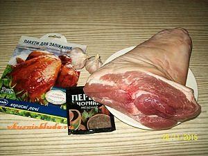 свиная рулька и специи