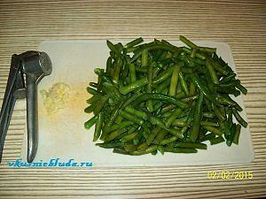 зелёная фасоль и чеснок