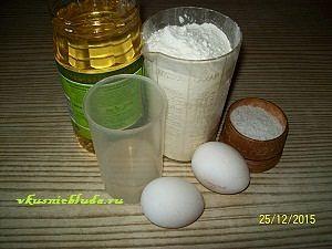 ингредиенты для вытяжного теста