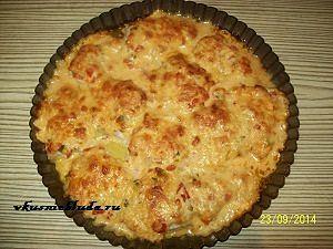 скумбрия с помидорами и сыром в духовке