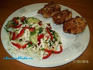 вкусный овощной салатик
