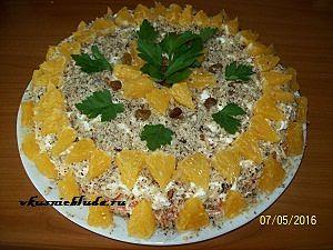 салатик с курицей и апельсинами