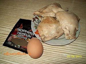 отварная курица яйцо перец