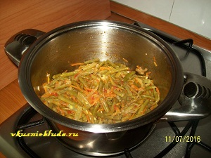 рецепт стручковой фасоли с овощами