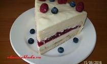 бисквитный торт с муссом