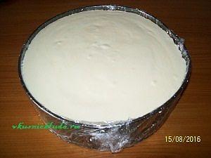 сборка торта с муссом