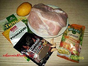 свинина и специи для запекания