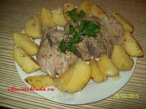 запеченная свинина с картошкой