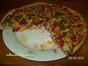 домашняя тонкая пицца