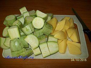 кабачки и картошка для запекания