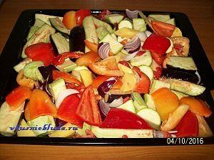 кусочки овощей для запекания