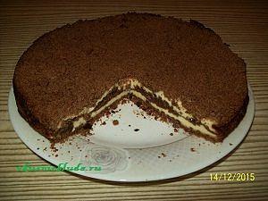 пирог шоколадный с творогом