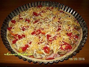 собираем тонкую пиццу