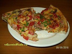 тонкая пицца рецепт