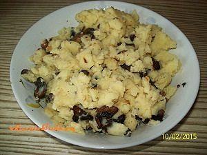 картошка с грибами для вареников