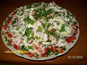 рецепт салата с копченым мясом