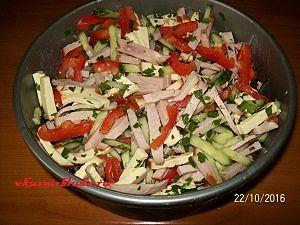 салат с копченым мясом рецепт