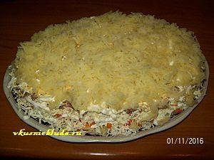 картофельный слой для мимозы