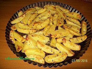 картошка в духовке с горчицей