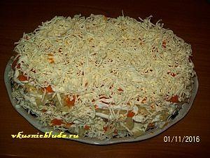 слой сыра для мимозы