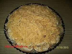 завершает сырный слой