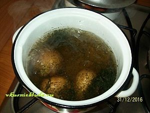 картошка с укропом