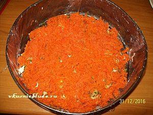 морковный слой для поляны