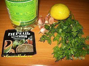 петрушка лимон чеснок