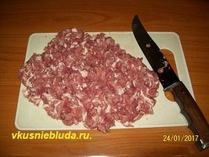 рубим свинину