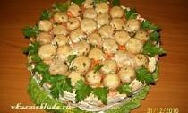 салат грибная поляна